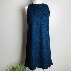 Monteau Royal Blue Mid Shift Sleeveless Mini Dress